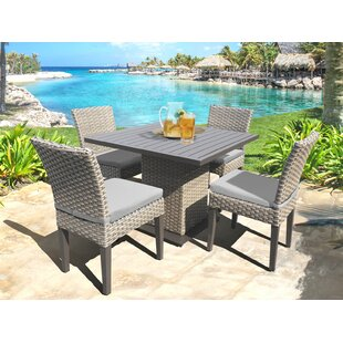 Medrano 5 Piece Dining Set with Cushion