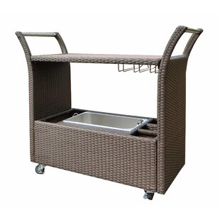 World Wide Wicker Tampa Bar Serving Cart