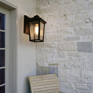 Gerry Square Outdoor Wall Lantern by Charlton Home