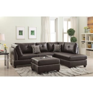Turnpike Reversible Sectional With Ottoman by Charlton Home Today Sale Only