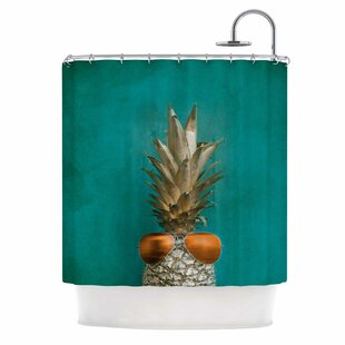 24 Karat Pineapple Single Shower Curtain