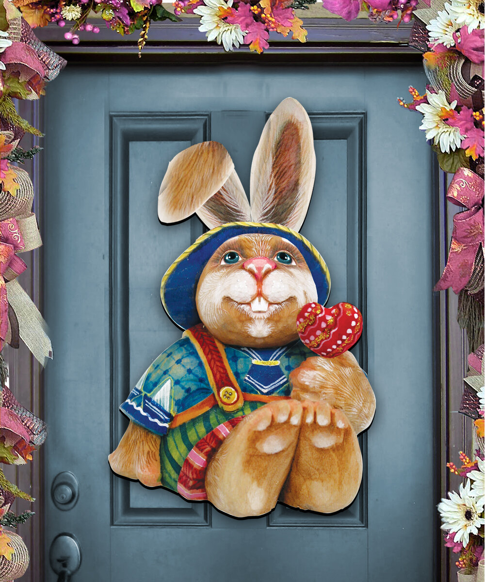 Bedroom Furniture Easter Sale: Designocracy Easter Bunny Family Wall Décor