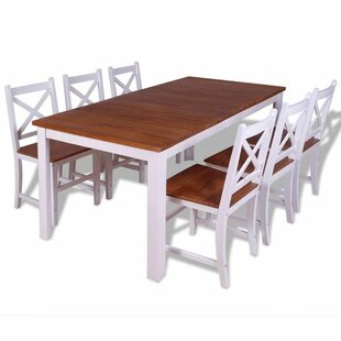 Rafael Dining Set With 6 Chairs By August Grove
