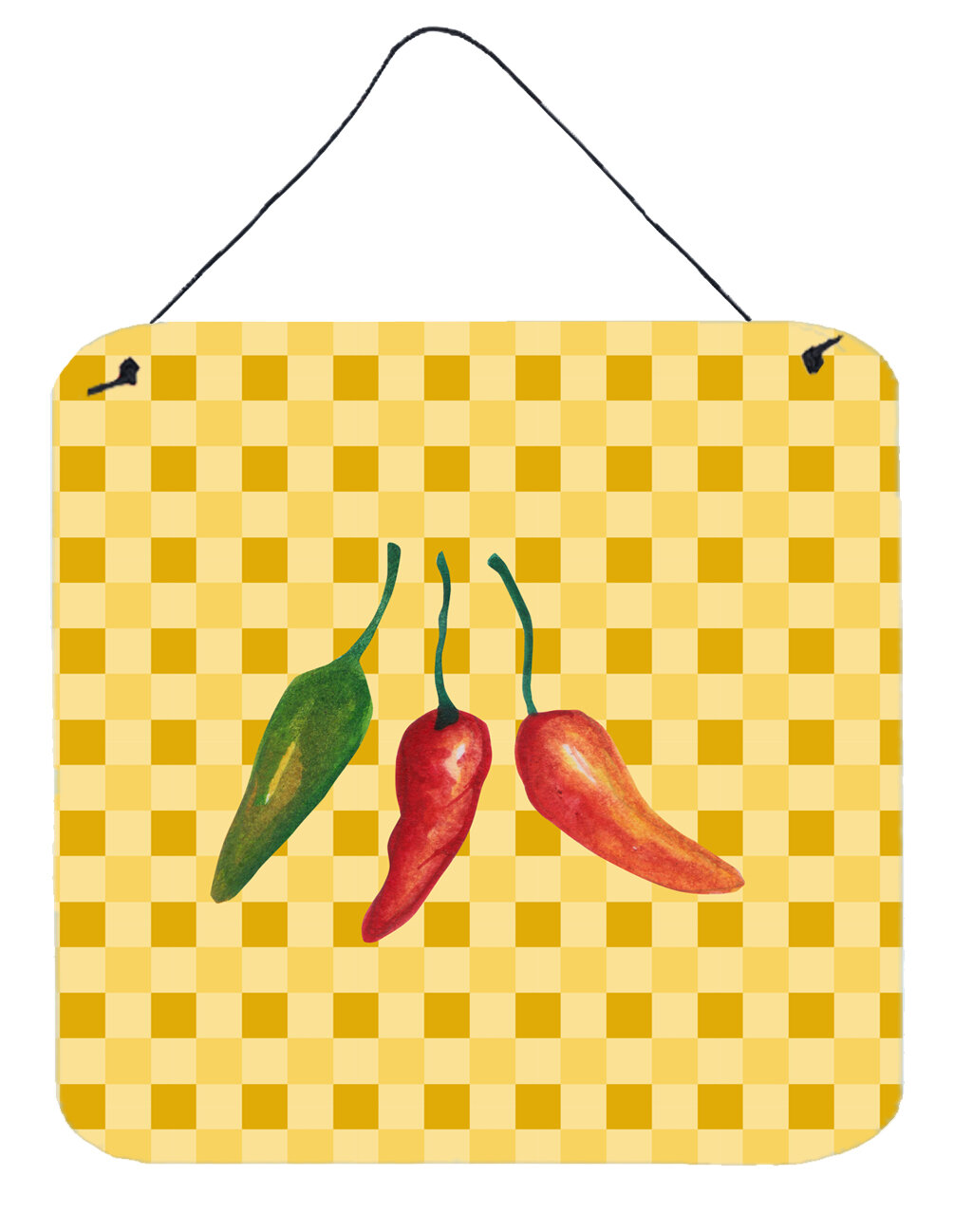 East Urban Home Cayenne Pepper on Basketweave Wall Décor | Wayfair