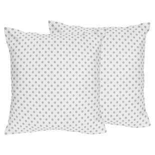Watercolor Floral Polka Dot Throw Pillow (Set of 2)