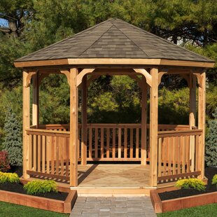 12 Ft W X 12 Ft D Solid Wood Patio Gazebo