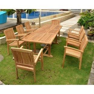 Rosecliff Heights Farnam 9 Piece Teak Dining Set