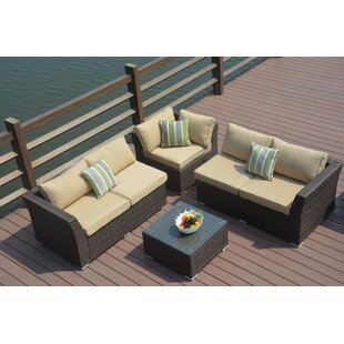 Kartik 4 Piece Sectional Set with Cushions
