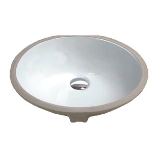Rhodes Series Vitreous China Circular Undermount Bathroom Sink with Overflow ANZZI
