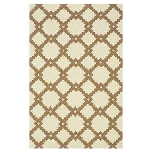Danko Hand-Hooked Beige/Tan Indoor/Outdoor Area Rug