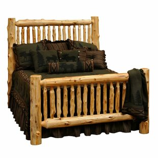Traditional Cedar Log Slat Headboard