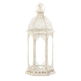 Zingz & Thingz Graceful Iron and Glass Lantern
