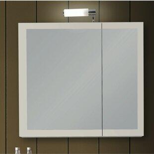 Luna Surface Mount Framed Medicine Cabinet with 1 Adjustable Shelves by Iotti by Nameeks