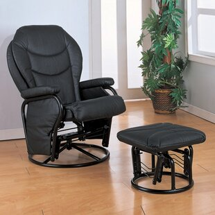 Wildon Home ® Glendale Swivel Glider and Ottoman