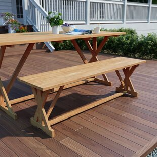Bivens Teak Bench By Sol 72 Outdoor