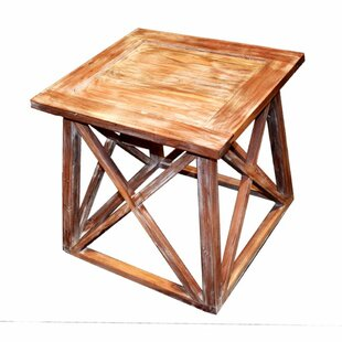 Millwood Pines Worle Solid Wooden Side End Table