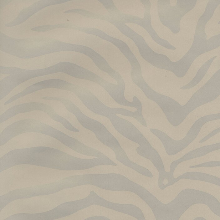 "Risky Business Magnetism 33' x 20.5"" Zebra Print Foiled Wallpaper"