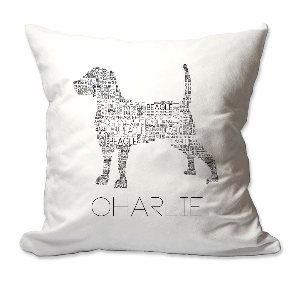 18 x 18 Inch Personalised Dog Gift Pillow Case German Shepherd Sits Here Customizable Cushion Cover