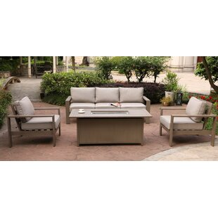 Otega 4 Piece Sofa Seating Group with Cushions