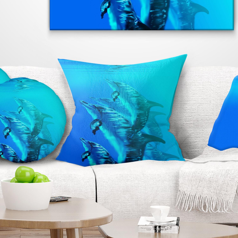 East Urban Home Seascape Dolphin Pillow Wayfair