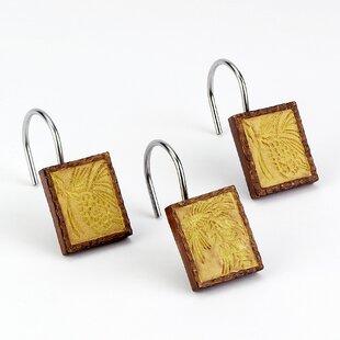 Adirondack Pine Shower Curtain Hooks (Set of 12) ByAvanti Linens