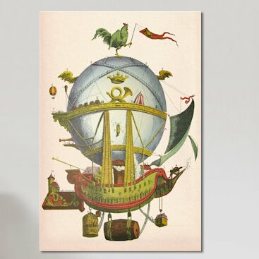 East Urban Home Minerve Hot Air Balloon Graphic Art On Wrapped Canvas Wayfair