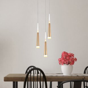 Wadley 3-Light LED Cluster Pendant by Orren Ellis