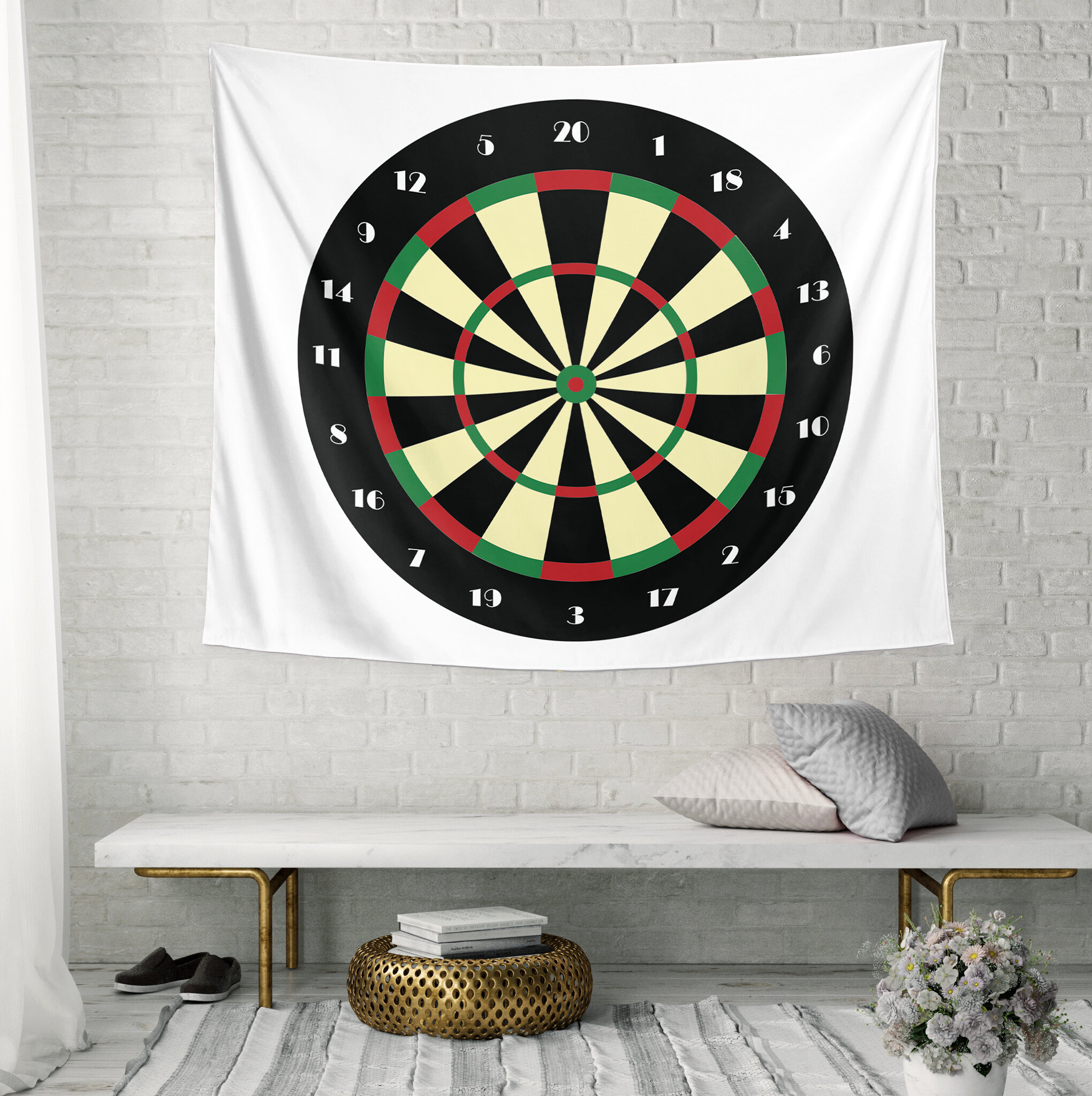 Ebern Designs Microfiber Dart Board Tapestry Wayfair