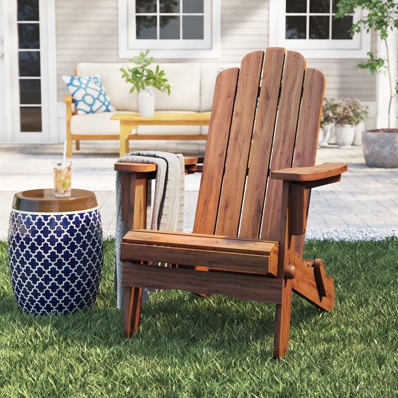 Imane Solid Wood Folding Adirondack Chair