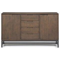 Bertello 60 Wide 4 Drawer Rubberwood Wood Buffet Table Allmodern