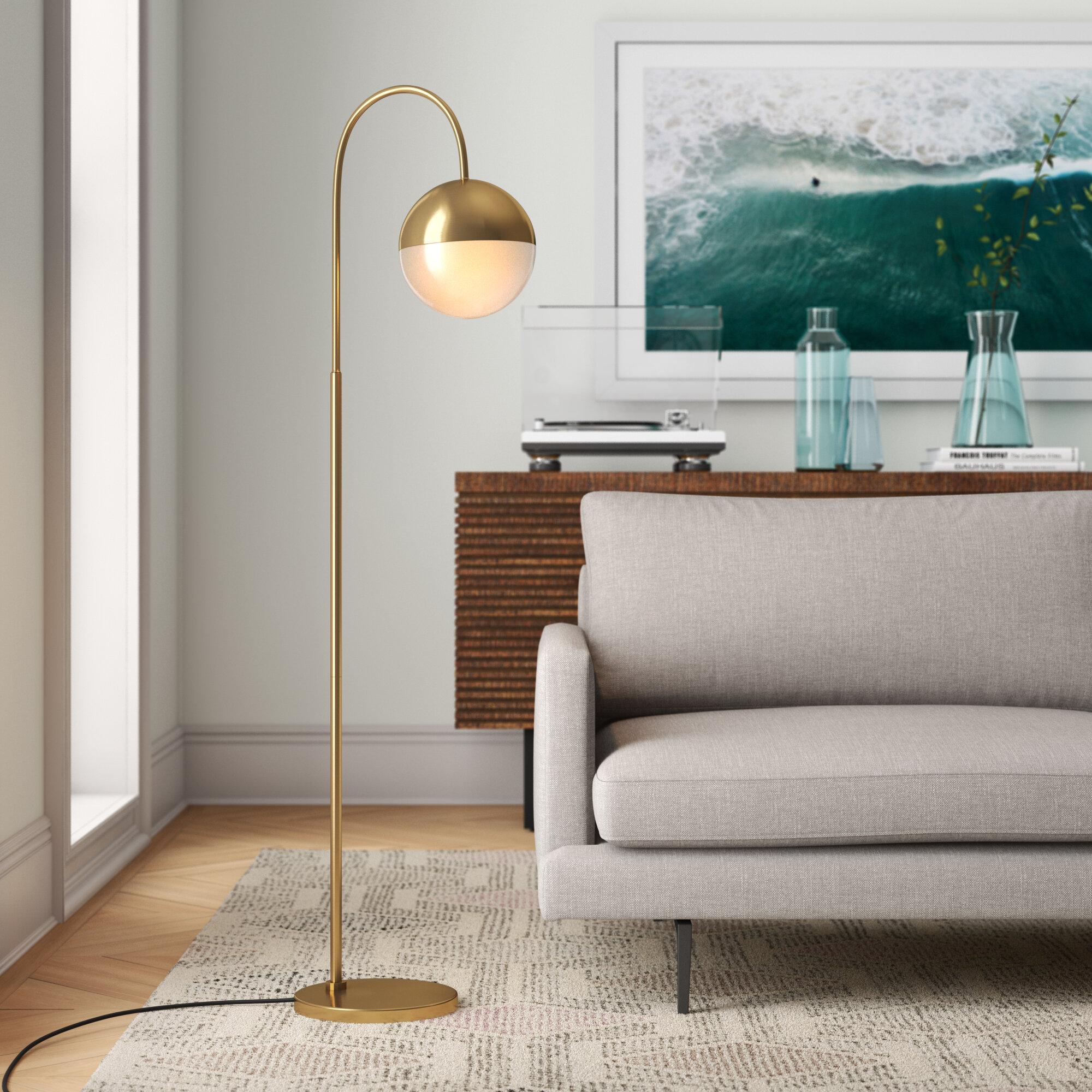 Foundstone Sadie 56 Arched Floor Lamp Reviews Wayfair