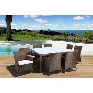 Beachcrest Home Aquia Creek 9 Piece Dining Set