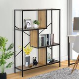 Obryant 45 H x 31 W Metal Step Bookcase by 17 Stories