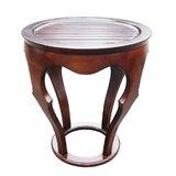 Gateshead Living Room Mahogany Solid Veneer Wood Curved End Table by Alcott Hill®