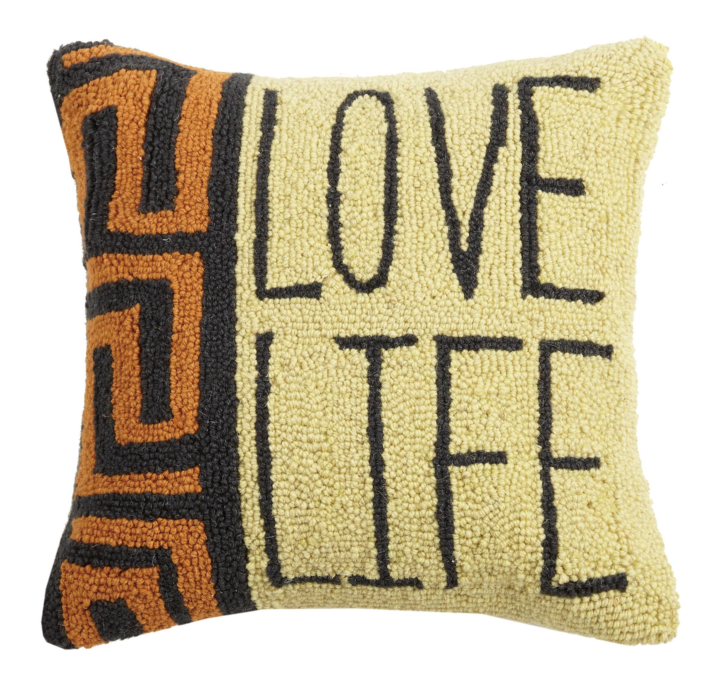 Bloomsbury Market Masaryktown Love Life Wool Throw Pillow Wayfair