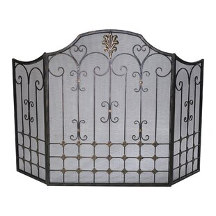 3 Panel Iron Fireplace Screen by Cyan Design