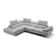 aurora leather sectional - Leather Sectional Couch