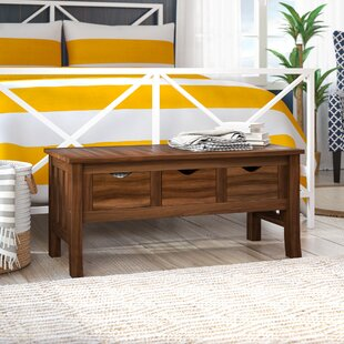 Georgetown Wood Storage Bench by Breakwater Bay