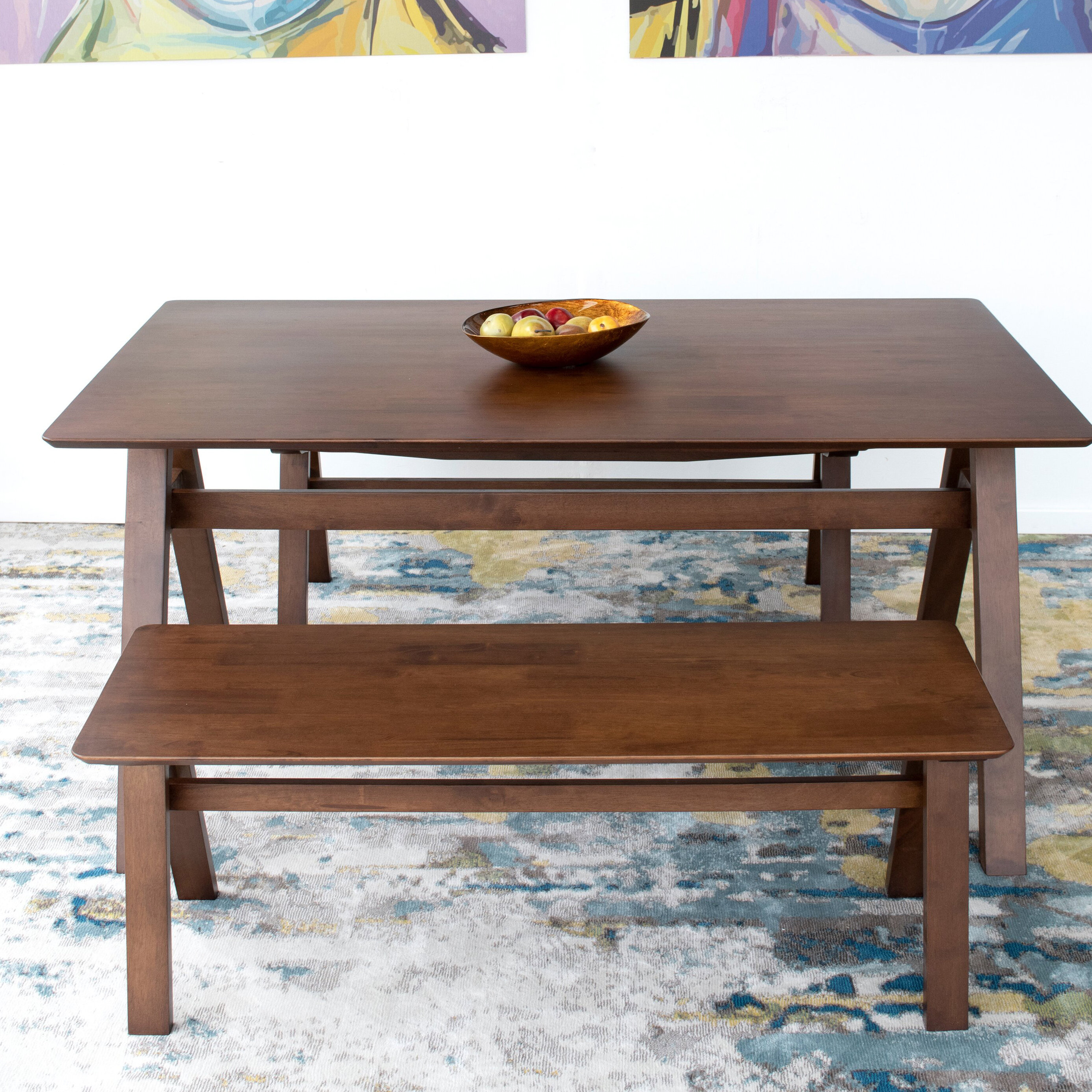 George Oliver Cabrillo Solid Wood Dining Table Wayfair