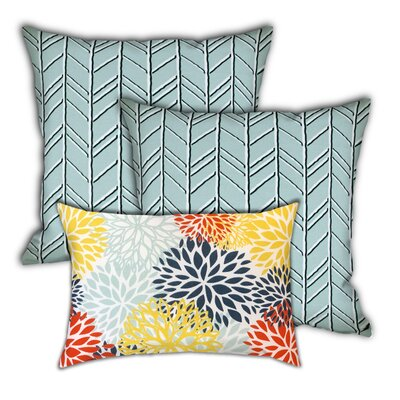 Clairborn Sunsets Indoor / Outdoor 19'' Throw Pillow Cover by Red Barrel Studio Savings