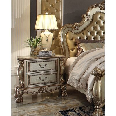 Perales 2 Drawer Nightstand