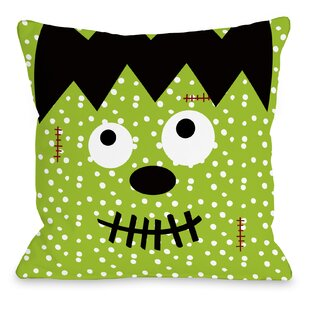 Frankenstein Dots Throw Pillow