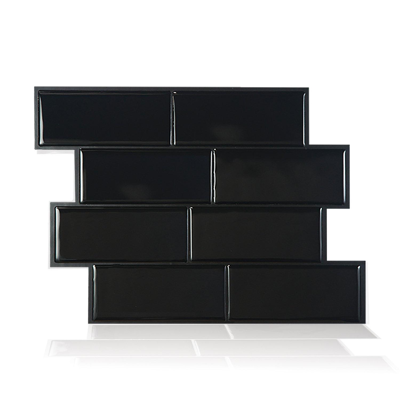 Smart tiles allmodern mosaik metro nero 1156 x 838 peel stick subway tile in black dailygadgetfo Images
