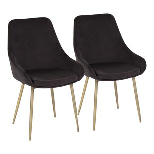 Verrett Upholstered Dining Chair (Set of 2) Orren Ellis