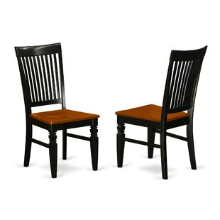 Glasper Solid Wood Dining Chair (Set of 2) Charlton Home