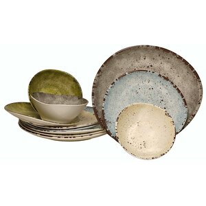 Melamine 12 Piece Dinnerware Set, Service for 4