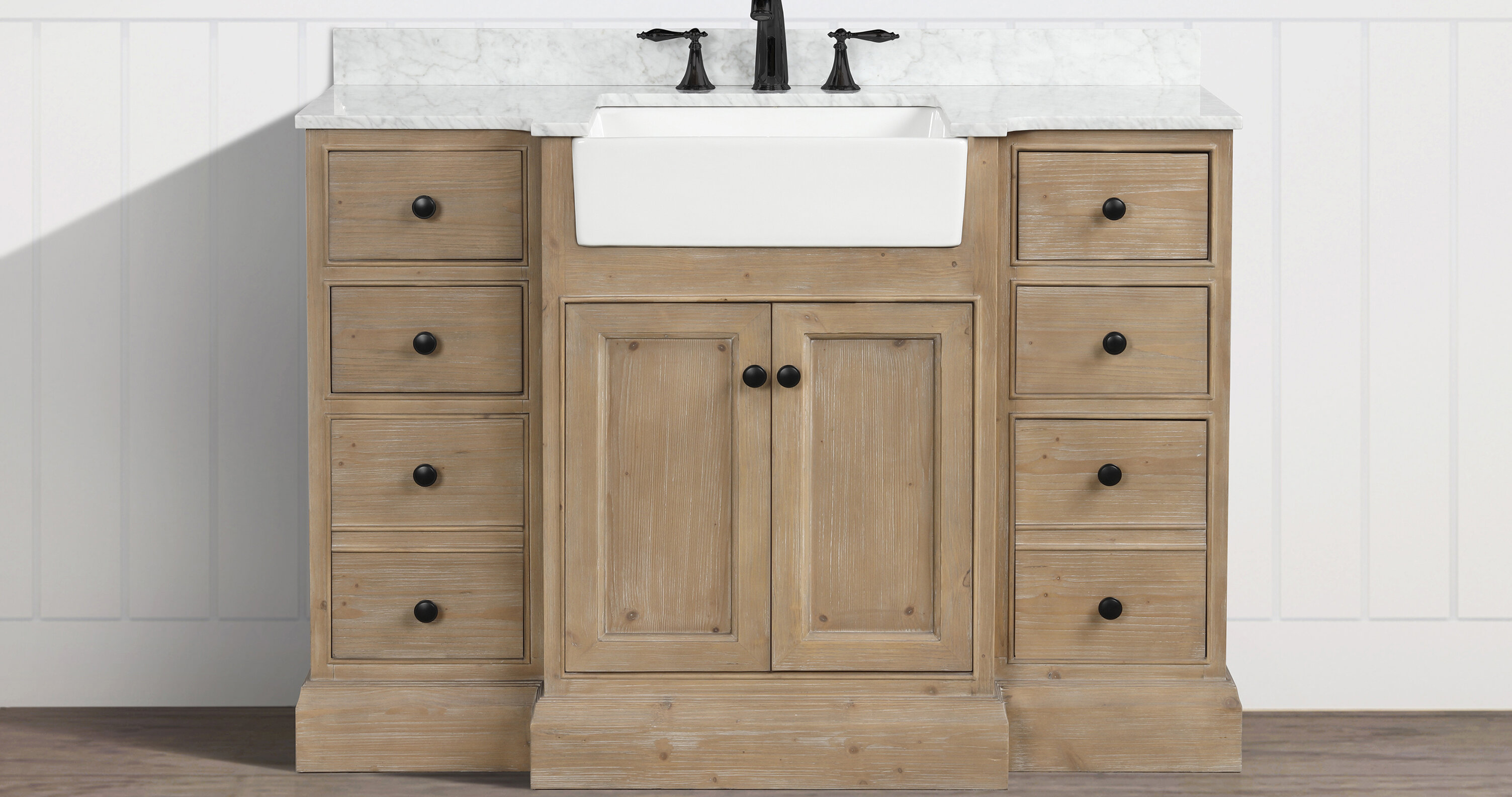 Coastal Farmhouse Claire 48 Single Bathroom Vanity Set Reviews Wayfair
