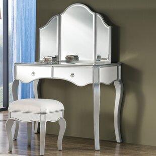 Emerita Vanity Set with Mirror by Rosdorf Park