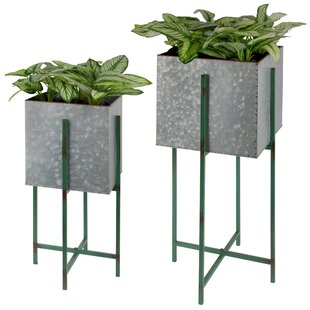 Deems 2 Piece Metal Wall Planter Set By Borough Wharf