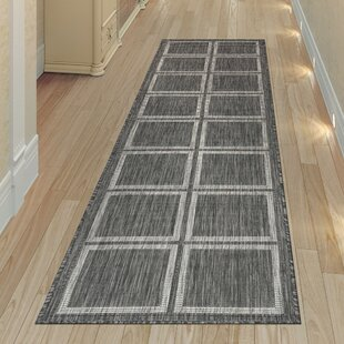 Hamm Squares Gray Indoor/Outdoor Area Rug